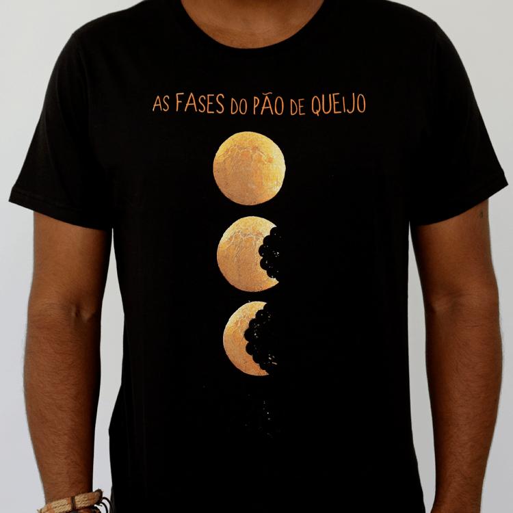 Camiseta Masculina As Fases do Pão de Queijo
