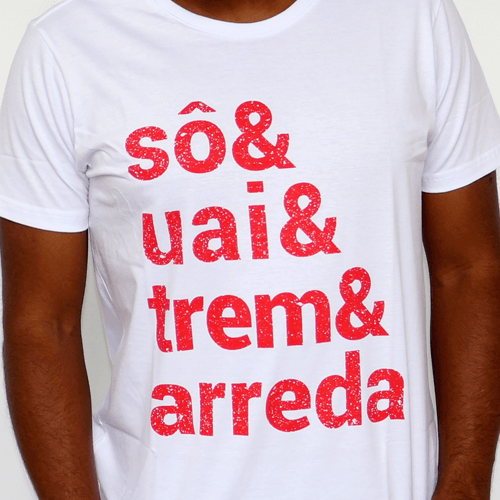 Camiseta Masculina Sô & Uai & Trem & Arreda