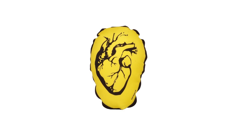 Almofada Coração - Amarelo - AlamparinA