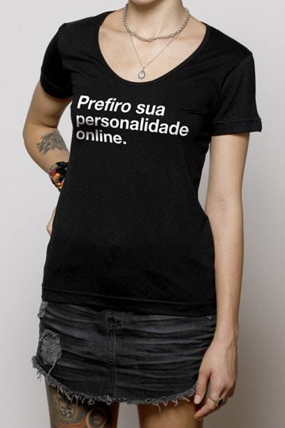 Camiseta Feminina Personalidade - Chico Rei