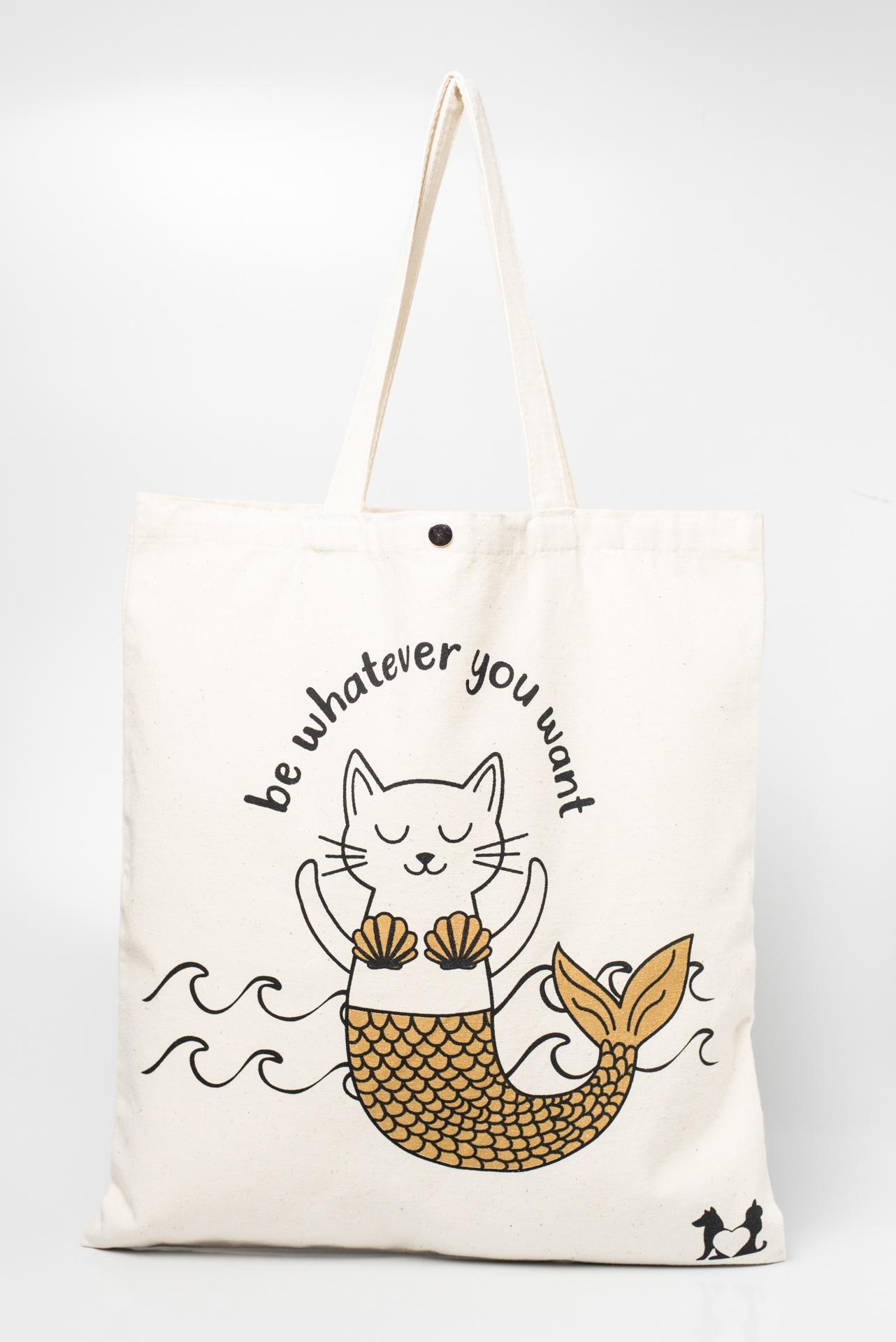 Tote Bag Gato Sereia - Felicis