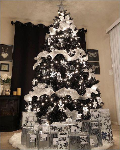 Albero Di Natale Nero E Bianco