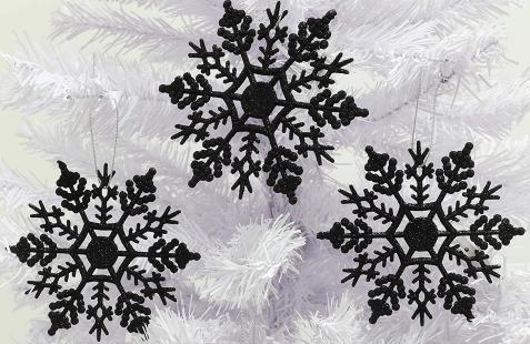 Christmas Concepts Confezione Da 12 Fiocchi Di Neve Glitterati Da 10 Cm