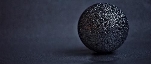 Pallina Nera Glitterata Natalizia