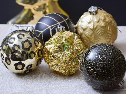 Valery Madelyn Palle Di Natale Nere E Oro