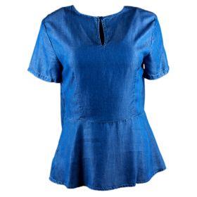 Blusa Mujer Michael by Michael Kors MS74L335FS (Azul-01, M)
