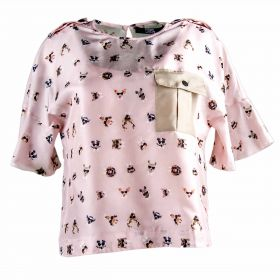 Blusa Mujer Karl Lagerfeld 82KW1600 (Rosa-01, M)