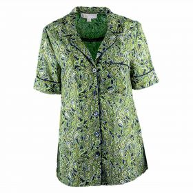 Camisa Mujer Michael by Michael Kors Paradise (Verde-01, M)