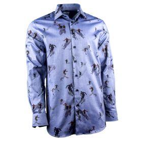 Camisa Hombre Emanuel Berg 21707121707501 (Azul-01, L)