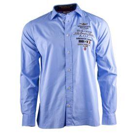 Camisa Hombre Aeronautica Militare CA1035CT2238 (Azul-02, XL)