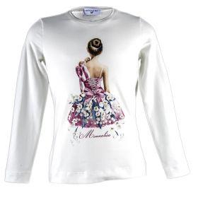 Camiseta Niña Monnalisa 110607S4-0201 (Blanco, 10-años)