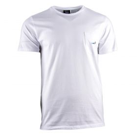 Camiseta Hombre Edmmond Mermaid Pocket Tee (Blanco, L)
