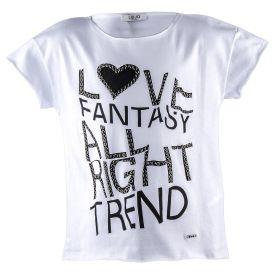 Camiseta Niña Liu·Jo G18094J0166 (Blanco, 12-años)