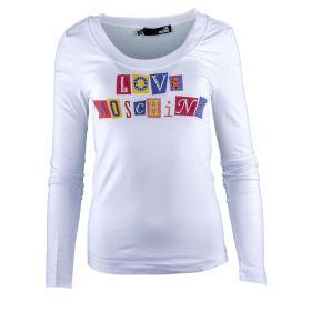 Camiseta Mujer Love Moschino W4G1802E1512 (Blanco, XS)
