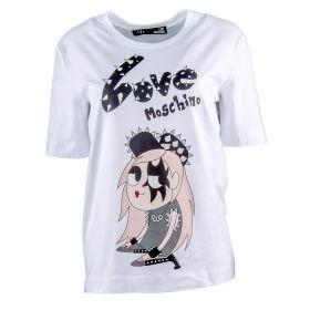 Camiseta Mujer Love Moschino W4F1561E1698 (Blanco, XS)