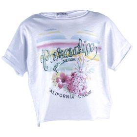 Camiseta Niña Elsy 49380T10-E18 (Blanco, S)
