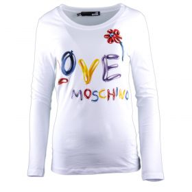 Camiseta Mujer Love Moschino W4B813LE1512 (Blanco, L)