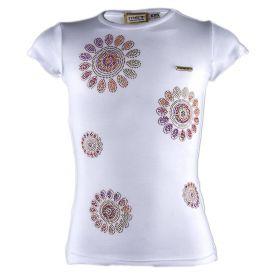 Camiseta Niña Met TARY-J1408-G7 (Blanco, S)