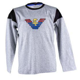 Camiseta Niño Armani Junior 6Y4T02-4J09Z (Gris-01, 5-años)