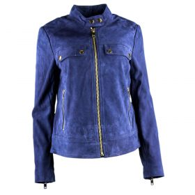 Chaqueta Mujer Michael by Michael Kors Mod Suede (Azul-01, L)