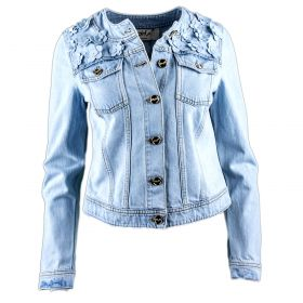 Chaqueta tejana Mujer Blugirl 03453 (Azul-01, XS)