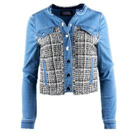 Chaqueta tejana Mujer Karl Lagerfeld 71KW1405 (Azul-03, XXL)
