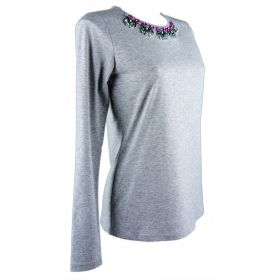 Camiseta Mujer Blugirl 02498 (Gris, XS)