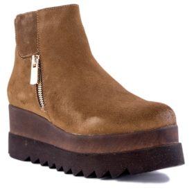 Botín Mujer Hangar shoes 3833-ANTE (Beige, 39)