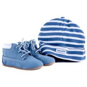Conjunto botines y gorro Niño Timberland 9681R (Azul-01, 20 )