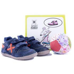 Conjunto zapatillas deportivas + pelota Niño Munich  (Bicolor, 18)