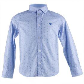 Camisa Niño Armani Junior 6X4C15-4N0GZ (Azul-01, 4-años)