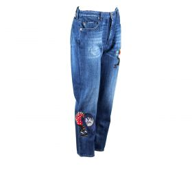 Pantalón tejano Mujer Love Moschino WQ38128T9349 (Azul-01, XS)