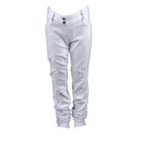 Pantalón tejano Niña Met X-K-FIT-G130 (Blanco, 16-años)