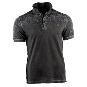 Polo Hombre Shockly POLO-ROSES (Negro, XL)
