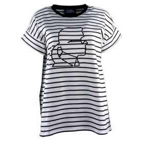 Sudadera Mujer Karl Lagerfeld Short Sleeve Logo (Bicolor, L)