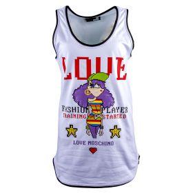 Top Mujer Love Moschino W4G2702M3517 (Blanco, XS)