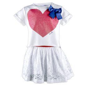 Vestido Niña Lú Lú by Miss Grant I4273440 (Blanco, 3-años)