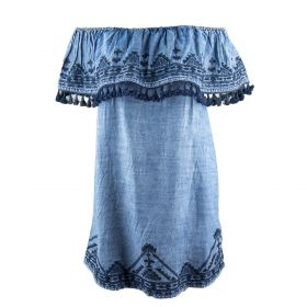 Vestido Mujer Tolani 18TO2270-119 (Azul-01, XL)