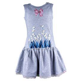 Vestido Niña Monnalisa 190900R1-0002 (Gris-01, 3-años)