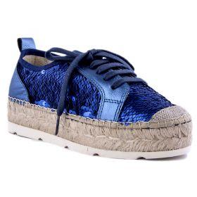 Zapato Mujer Vidorreta 6400LENTEJUELA (Azul-01, 35 )
