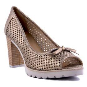 Zapato Salón Mujer Visset 40572 (Dorado, 35 )
