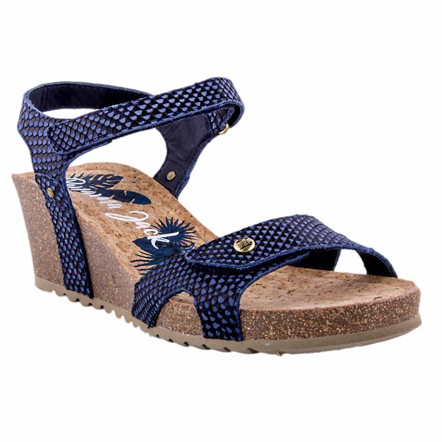 eac09830216c64 Sandalia Mujer Panama Jack Julia Snake B12 (Azul-01