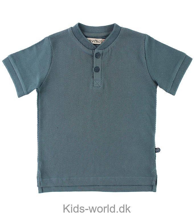 Minymo T-shirt - Granddad - Støvet Blå