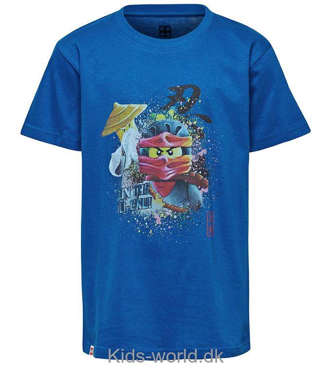 Lego Ninjago T-shirt - Blå m. Print