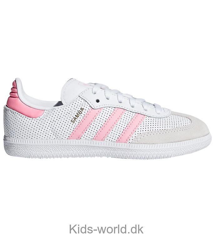 adidas Originals Sko - Samba - Hvid m. Lyserød