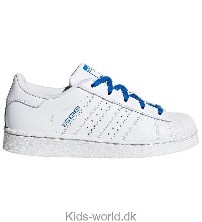 adidas Originals Sko - Superstar - Hvid m. Blå
