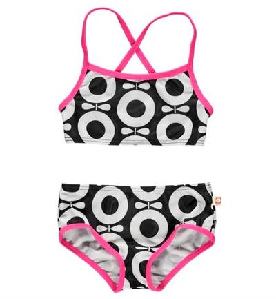 Sort/Hvid/Pink Æble Bikini (UV+50) Fra Katvig