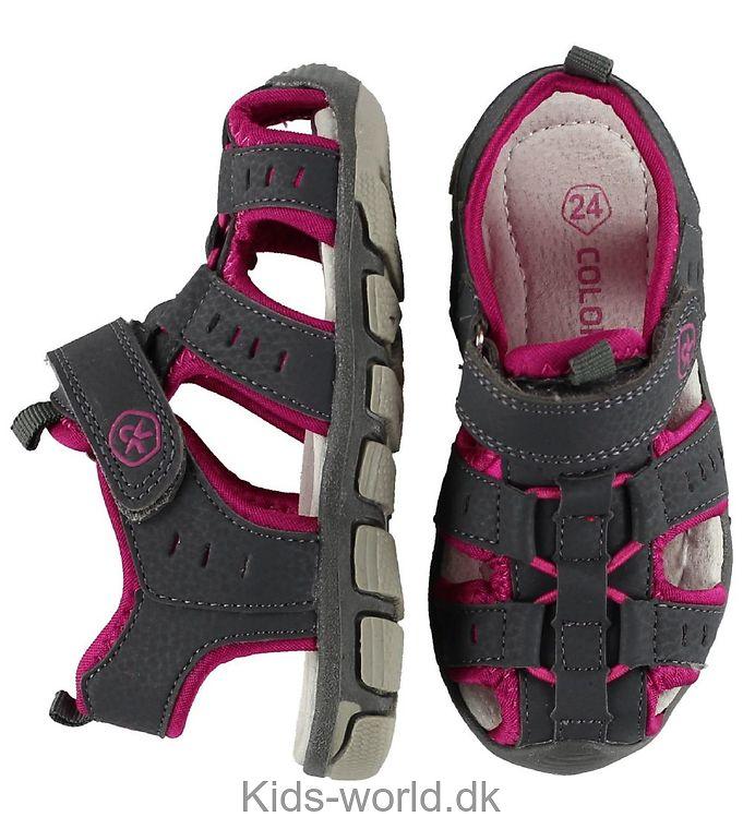 Color Kids Sandaler - Vilnis - Grå m. Pink
