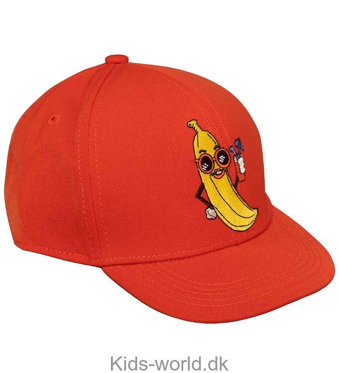 Mini Rodini Kasket - Banana - Rød