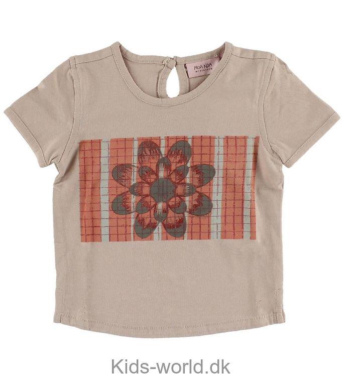 Noa Noa Miniature T-shirt - Gammel Rosa m. Blomst
